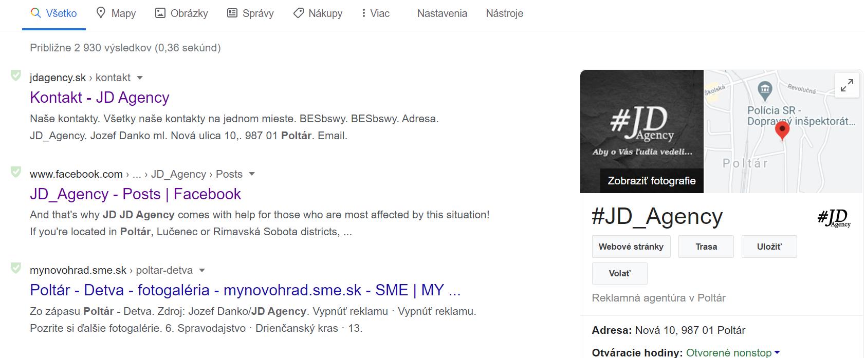 JD Agency google
