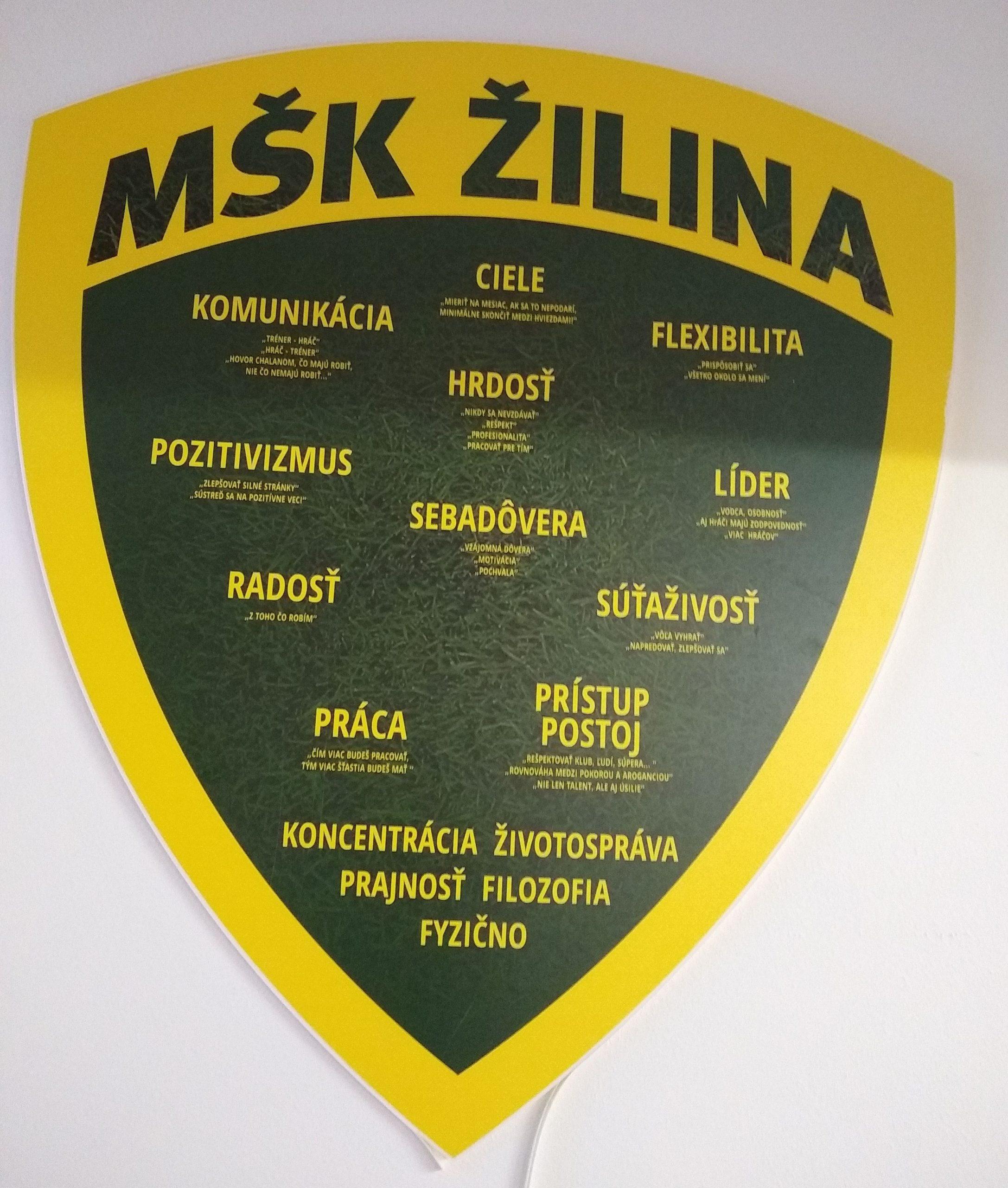 Hodnoty MŠK Žilina